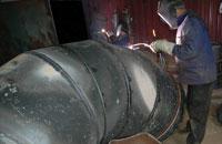 Процесс изготовления колена Ду 900